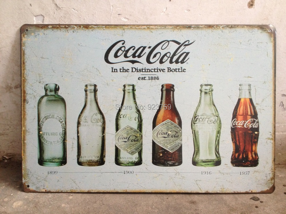 IN THE DISTINCTIVE BOTTLE EST 1886 Vintage Tin Sign Bar pub home Wall Decor Retro Metal Art Poster(China (Mainland))