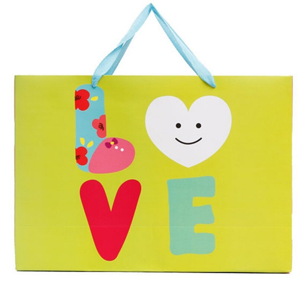 Birthday Anniversary Christmas Valentine Party bags Gift Bags- Best Love Green-Set of 6(China (Mainland))