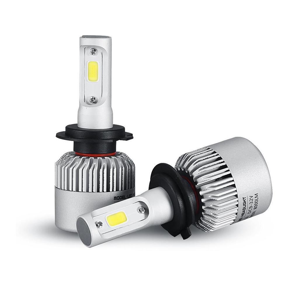 oslamp h7 cob led car headlight bulb kit 72w 8000lm auto front light h7 fog light bulbs 6500k. Black Bedroom Furniture Sets. Home Design Ideas
