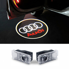LED Car Door Welcome Light Laser Car Door Shadow led Projector Logo For AUDI A3 A4 b6 b8 A5 A6 c5 A7 A8 R8 Q5 Q7 TT Sline 8q a1(China (Mainland))