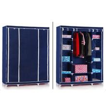 Closet Storage Furniture Portable Clothing Wardrobe Organizer Shoes Closet with Shelves Dustproof Storage Cabinet