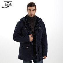 4XL X Long Thick Slim Hat Detachable Winter parkas Men Pockets Zipper Warm Winter Coat Men