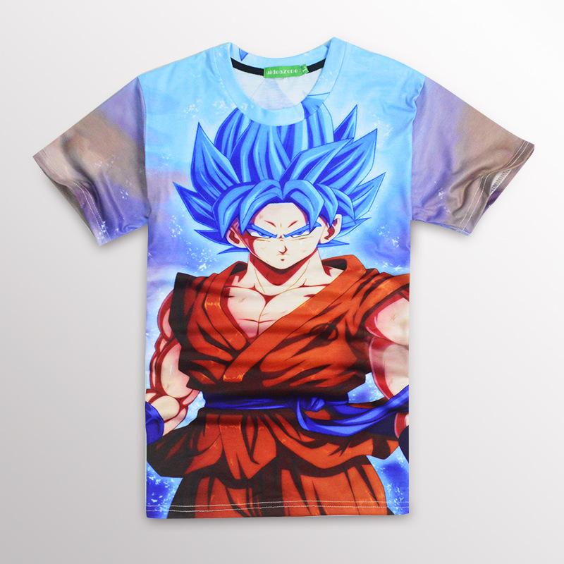Newest Style Dragon Ball Z Goku 3D t shirt Funny Anime Super Saiyan t shirts Women Men Harajuku tee shirts Casual tshirts tops(China (Mainland))