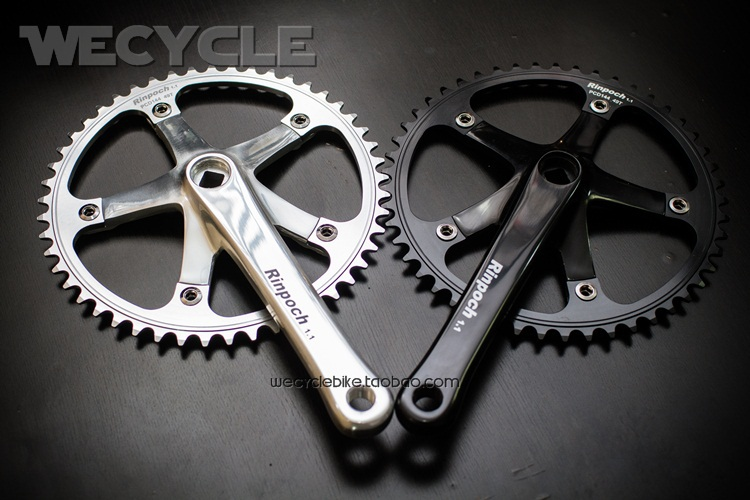 Rinpoch BCD 144 49T 51T 1.1 Square hole Fixed Gear Bicycle Single speed Bikes Crankset Crank 170MM Parts Free shipping(China (Mainland))