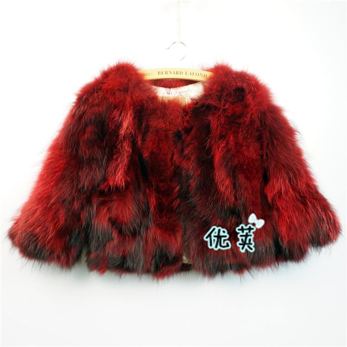 Fashion Childrens fur coat,Cute Girls fur coat 100% raccoon fur jacket coats Kids fur jacket winter coats free shippingCFB39NОдежда и ак�е��уары<br><br><br>Aliexpress