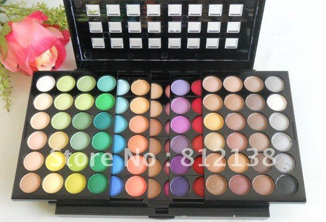 Wholesale price free shipping New Pro 96 Color EyeShadow Makeup Palette with Mirror Brush Set #2