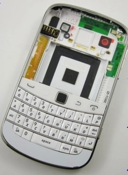 New Original Full housing cover case Side Frame+Middle Cover Case+Battery Cover+keypads For BlackBerry 9900 9930 Free shipping(China (Mainland))