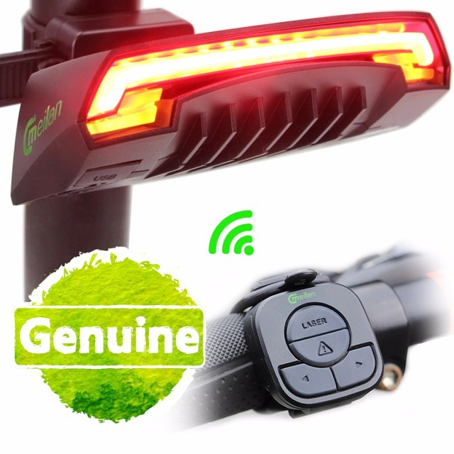 Smart Bike Rear Turn Signal LED Tail Light With Wireless Remote