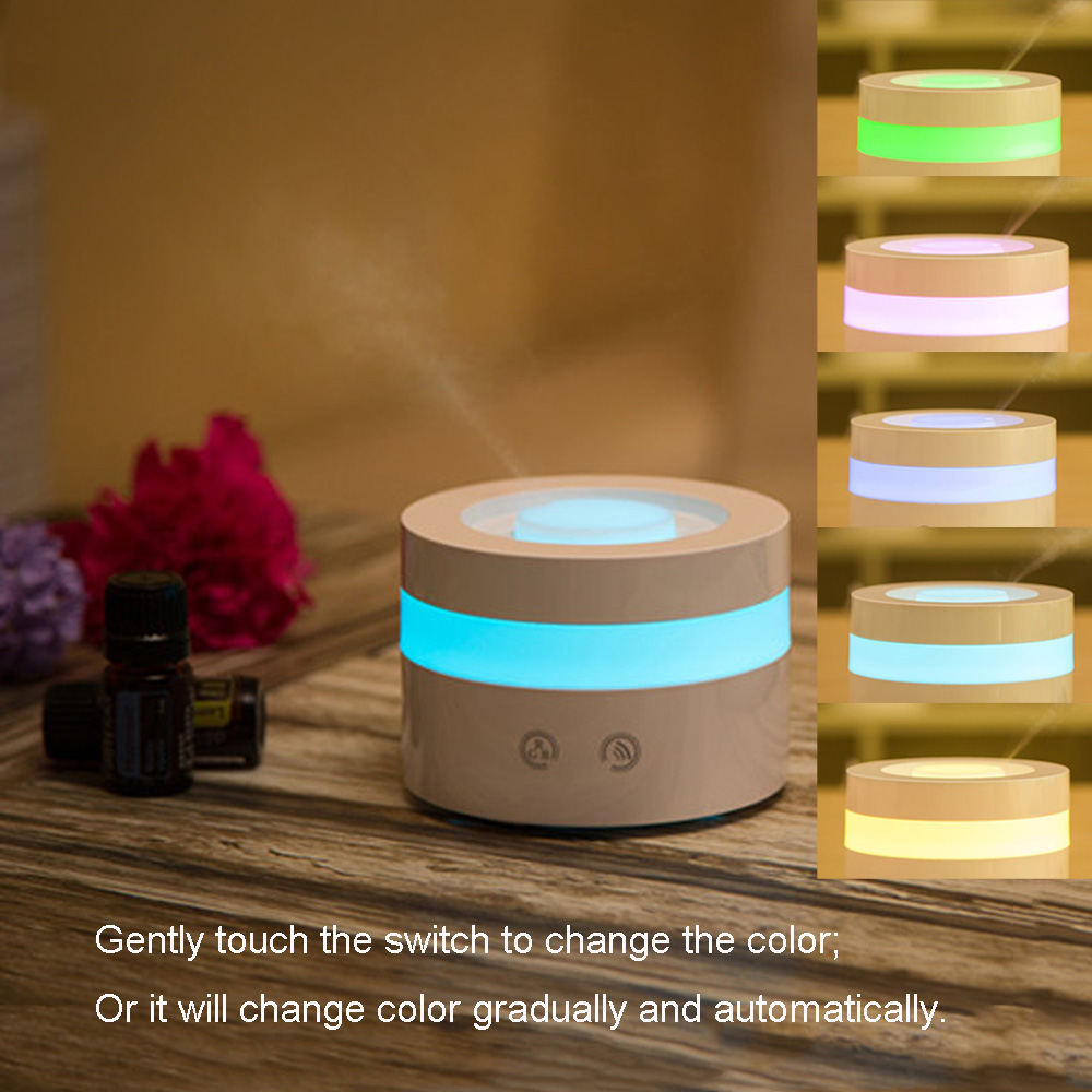 Aroma night lamps - Cool Ultrasonic Aroma Diffuser 100ml Air Humidifier Led Night Light Essential Oil Adjustable Color Changing For