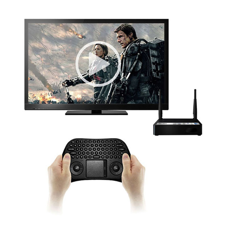 Feitong New Measy Black 2.4G RF Wireless Keyboard Fly Mouse with Touchpad for PC Android TV Freeshipping&Wholesale(China (Mainland))