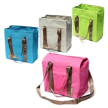 Functional Thermal Insulated Waterproof Tote Shoulder Bag Picnic Cooler Lunch Storage Box Bags Women Food Handbag