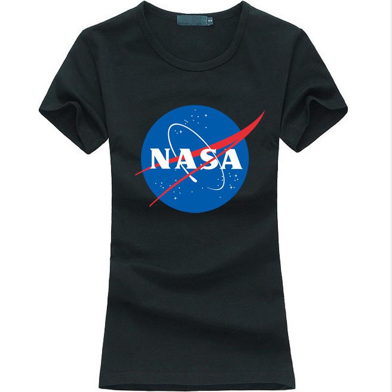 NASA letter print female T-Shirt 2016 Martian Matt Damon funny hipster tshirt women harajuku fashion brand kawaii punk tops tee(China (Mainland))