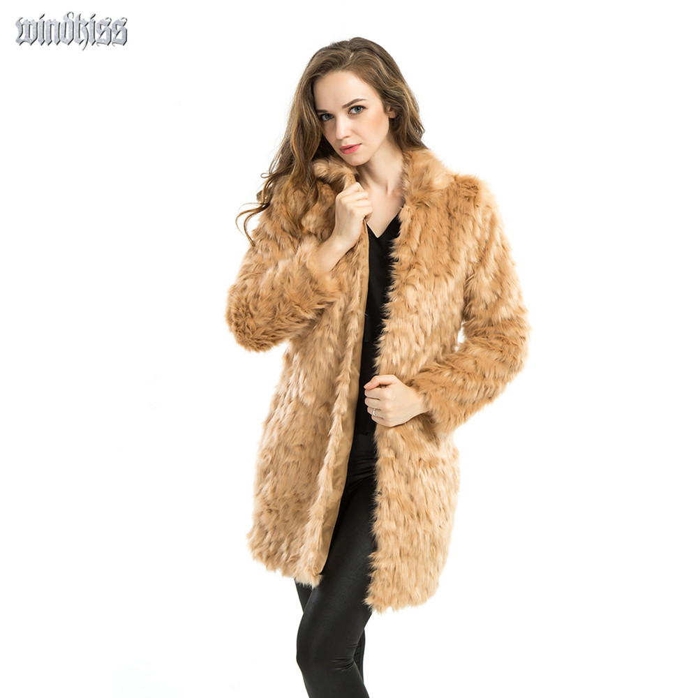 Womens Pink Faux Fur Coat In Plus Size - Tradingbasis