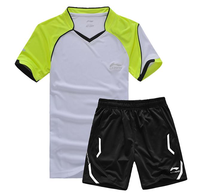 NEW LINING Men badminton clothing / table tennis clothes, Quick Dry sports shirt, badmiton Jerseys(China (Mainland))