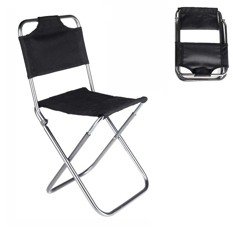Hot sale New Portable Folding Chair Aluminum Camping Fishing Chair with Backrest Carry Bag Black Chairs CAT6703 free shipping(China (Mainland))