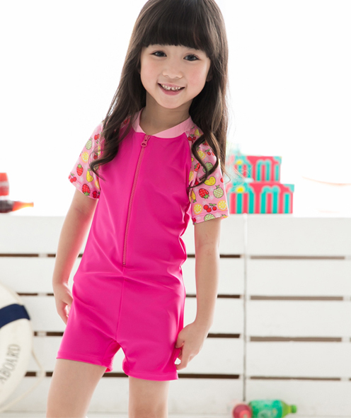 Retail Kids Girls Swimwear One Piece 2014 Pink Swimsuit for Children Blue Swim Suits for Teenage Girls Beachwear Free Shipping<br><br>Aliexpress