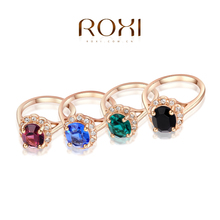 ROXI classic rings,rose gold plated top quality make with genuine Austrian crystals four color, fashion jewelry,2010012325(China (Mainland))
