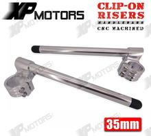 New CNC 1 Riser Clip On Higher Clipons Handlebar Universal Fit 35mm Forks Fits For CAFE
