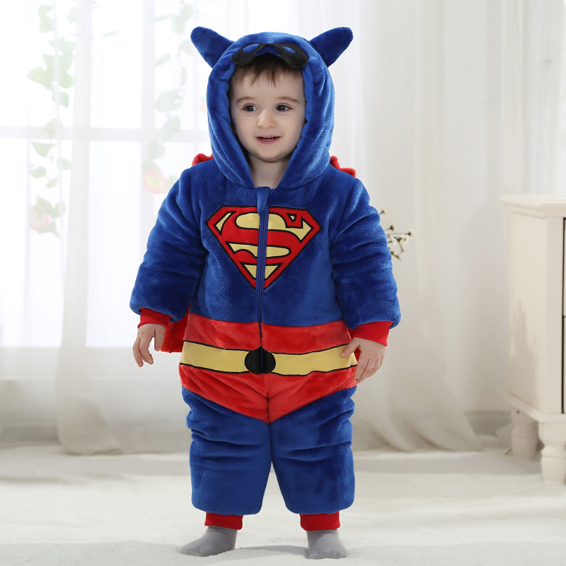 fashion autumn & winter baby romper costume drop ship superman baby clothes(China (Mainland))
