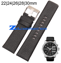 Leather strap  Black watchband 22mm 24mm 26mm 28mm 30mm accessories Wrist watch band Soft and comfortable