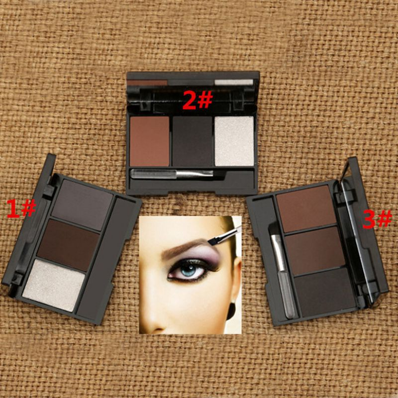 Гаджет  New Pro Makeup Eyeshadow Palette Eye Shadow Eyebrow Powder Tool Kit 3 Colors None Красота и здоровье