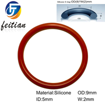 100piece/Size:9mm*5mm*2mm/Silicone o ring seal dichtung Red Gasket of motorcycle part/consumer product(China (Mainland))