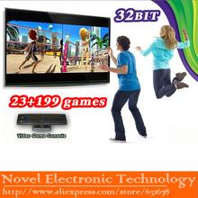Envío gratis deportes i movimiento tv / consola de juegos de vídeo con dos remoto blanca controlador de jugar 222 juegos(China (Mainland))