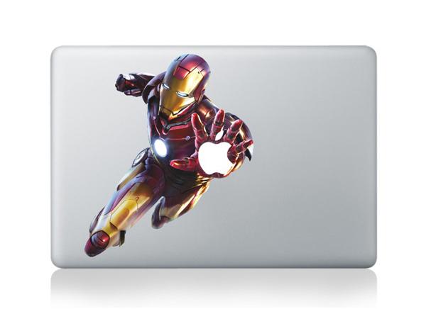 For apple mac stickers Iron Man DIY Vinyl Decal Sticker for Apple Macbook Pro Air 13 inch Laptop Case Cover Cartoon Skin Sticker(China (Mainland))