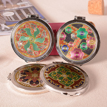 Retro Chinese Style Cosmetic Compact Mirrors Mini Women Pocket folding mirror portable mirror For Personalized Wedding Gifts