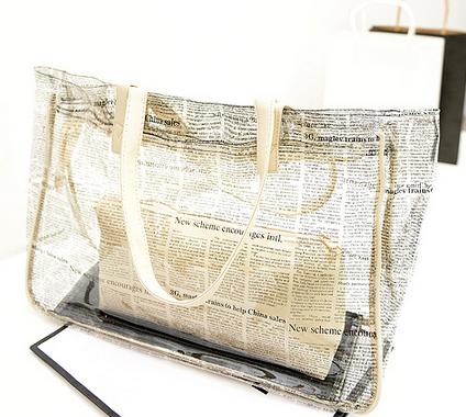 Designer women handbags shoulder bag transparent bags beach bag Casual tote Composite bag 5colors Wholesale/retail Free shipping(China (Mainland))