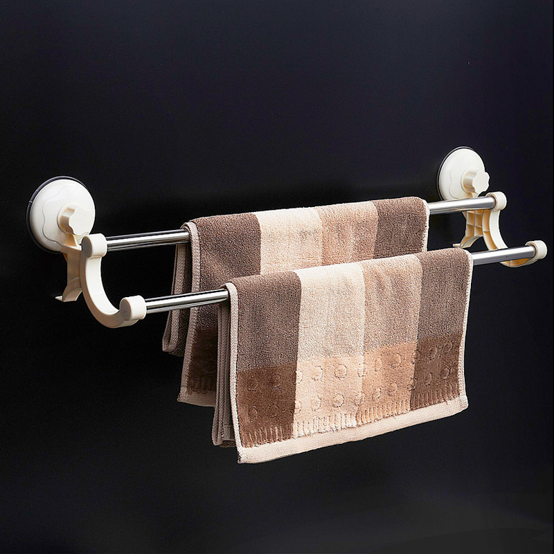2507 will suction wall double bar towel rack stainless
