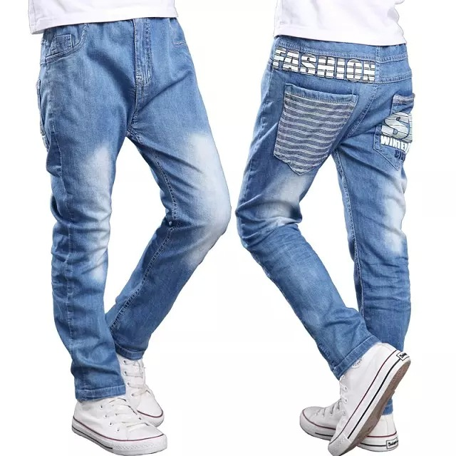 2015 summer style Kids boy pants Slim soft denim trousers ...