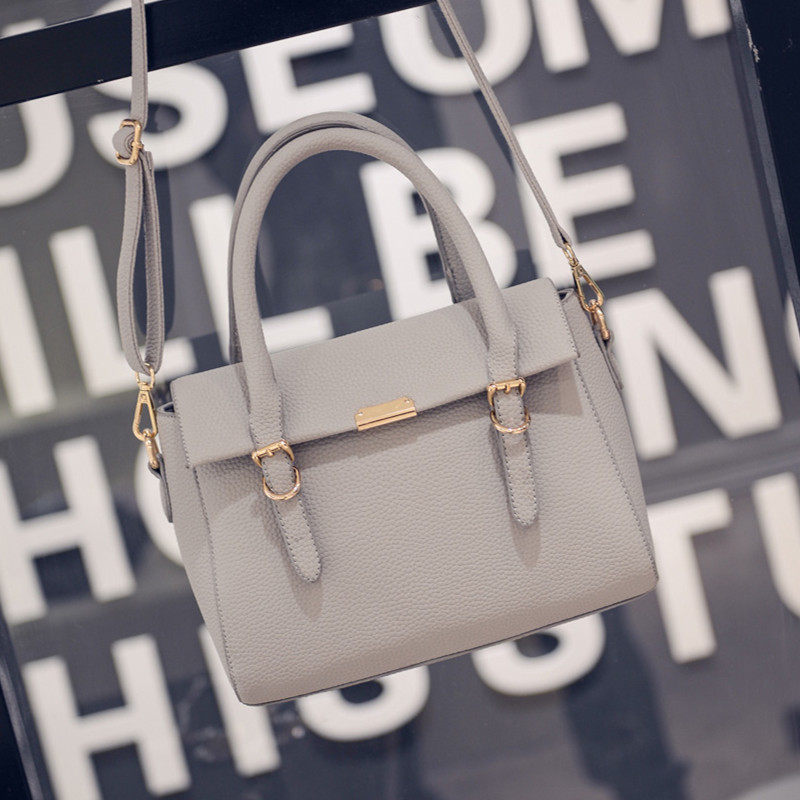 Embossing PU Bag 2016 New Fashion Handbag Magnetic Button Flap Bag Women Desiger Simple Shoulder Bag Ladylike Crossbody