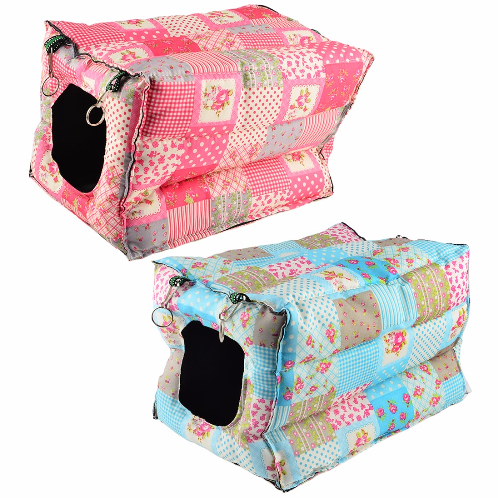 Hanging pet House Warm Cotton Hammock Small Animals Nest Bed House Cage for cat Rabbit Squirrel Ferret Guinea Pig Hamster Random(China (Mainland))