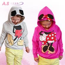 Retail baby clothing children Boy Girls sweater Hoodies Mickey Minnie Sweatshirts Mouse Cartoon Top Kids coat(China (Mainland))