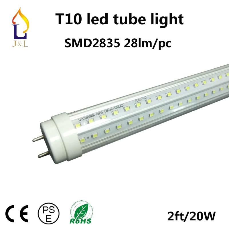 Free Shipping 25pcs/lot 20W 600MM T10 LED Tube Light Epistar SMD2835 96led/PC AC85-265V G13 socket(China (Mainland))