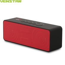 VENSTAR S207 2800 mAh Mini Altavoz Portátil Bluetooth Wireless Negro Rectángulo 10 W Altavoces Bluetooth 4.1 Ultra Bass Mic Incorporado