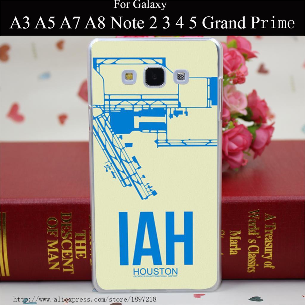 1551RW Iah Houston Poster Hard Transparent Painted Cover for A3 A5 A7 A8 E5 E7 J5 J7 Grand Prime Grand 2 Case(China (Mainland))