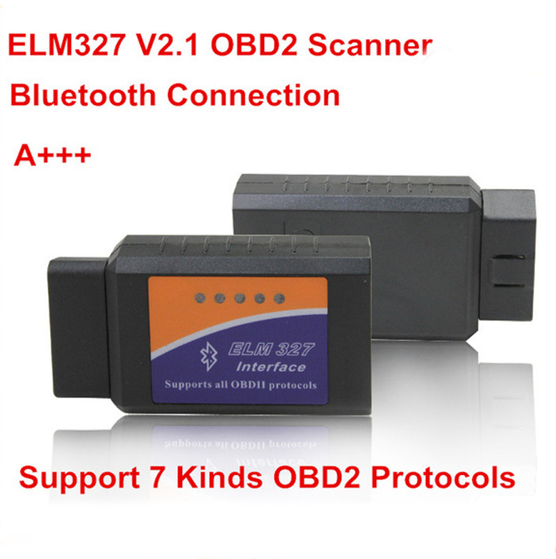 ELM327 V2.1 Auto Scan Tool Supports Android and for iOS Bluetooth OBD2/OBD II Car Diagnostic Scanner(China (Mainland))