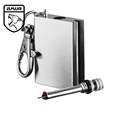 Amur Brand Army Quality Hard Anodized 6061 Aerospace Aluminum <font><b>Camping</b></font> Outdoor Waterproof Compartment Canister EDC Equipment