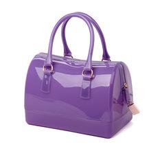 Purple Jelly Transparent Bag Orange Handbag Candy Bags Plastic Women Yellow Gold Silver White Multicolor Furly Famous Brand