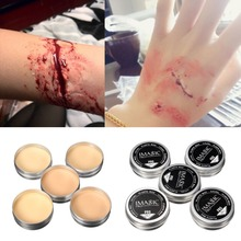 IMAGIC 1X Halloween Modeling Fake Wound Scar Eyebrow Blocker Wax Special Effect Makeup(China (Mainland))