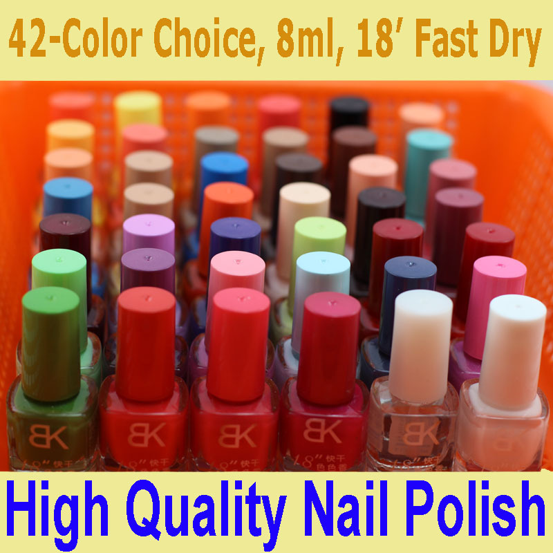 1 bottle Nail Polish Sweet Candy Color Fast Dry Branded China Cheap Polishes Glass Bottle with Brush 8ml Set Nail Art Salon(China (Mainland))