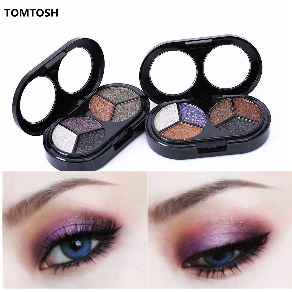 TOMTOSH 1PC Colorful 6-color eye shadow nude makeup earth color eye shadow pearl color(China (Mainland))