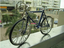 High artificial Zinc Alloy Racing exquisite Bike Bicycle Model front and rear bicycle wheel(China (Mainland))