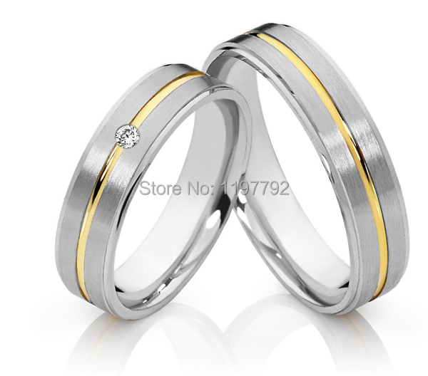 Custom Tailor Handmade Real Titanium Classic Wedding Band Engagement Ring His And Hers Sets