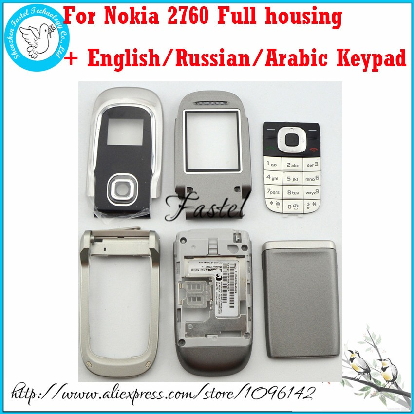 For Nokia 2760 Brand new Full Complete Mobile Phone Housing Cover Case + English/Russian/Arabic Keypad + Tools, Free Shipping