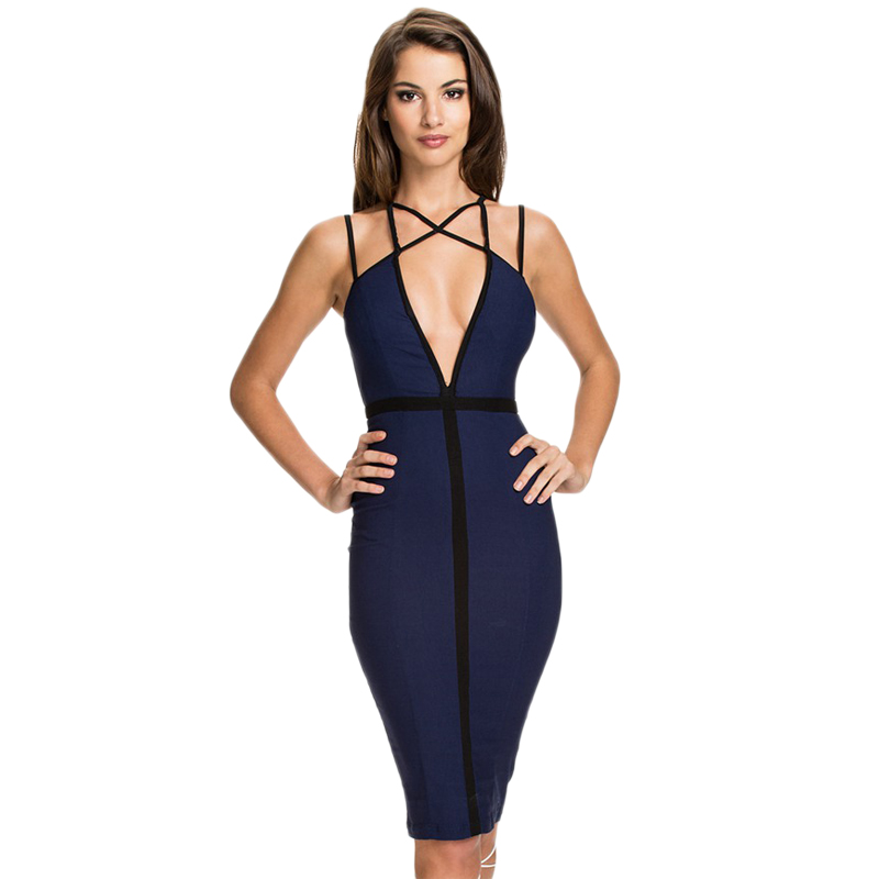 R80127 New arrivals womens summer dresses 2015 summer sleeveless midi nice sexy women dress dark blue sexy club dress 2015(China (Mainland))