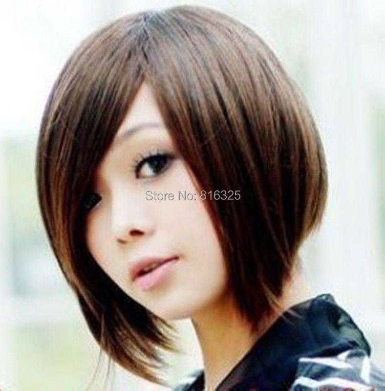 Wholesale price FREE P&P>>>COS Kanekalon Fiber wigs Vogue Brown Women's Lady's Anime hair Wig(China (Mainland))