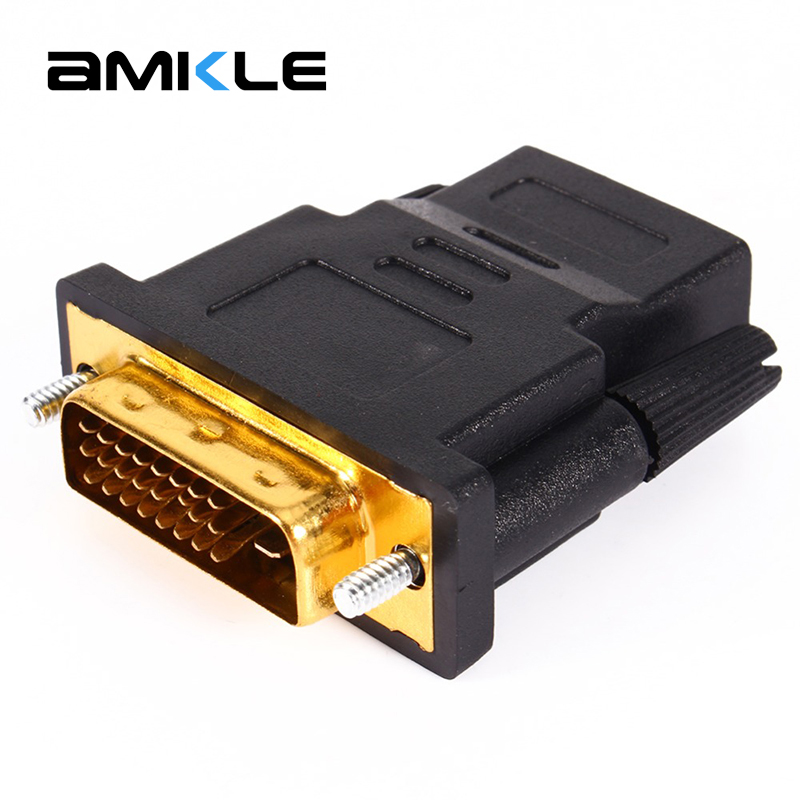 Amkle HDMI to DVI 24+1 Adapter Female to Male 1080P HDTV Converter for PC PS3 Projector TV Box(China (Mainland))
